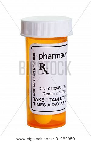 Yellow Pill Bottle