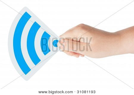 Wifi Icon With Hand