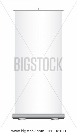Isolated roll-up banner