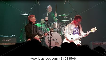NEW YORK - MAR 16:  Davy Carton, Rickie O'Neill, and Leo Moran of the Saw Doctors perform at Irving Plaza on March 16, 2012 in New York City.