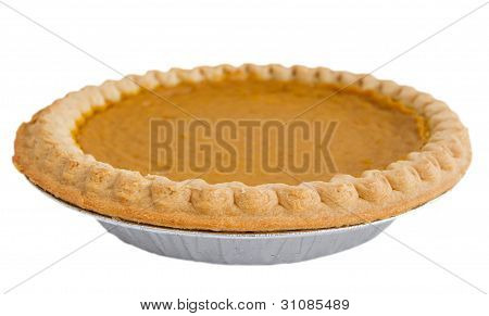 Pumpkin Pie Over White