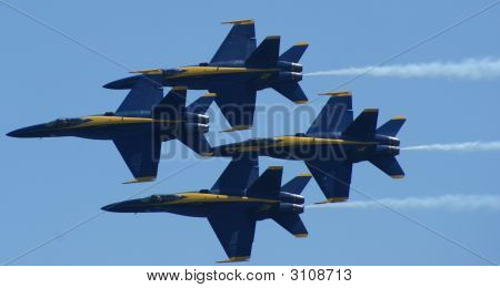 The Blue Angel navy/Marines F/A 18