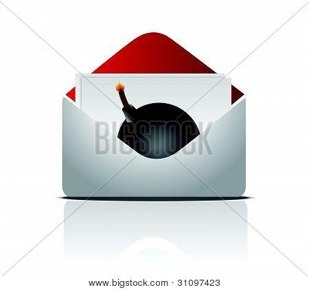 sending an explosive message concept illustration design