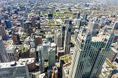 Chicago City Skyscrapers Aerial View. Skydeck Observation poster