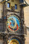 Prague Astronomical Clock, Bohemia, Czech Republic. Mounted On The Southern Wall Of Old Town Hall In poster