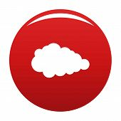 Overcast Icon. Simple Illustration Of Overcast Vector Icon For Any Design Red poster