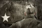 stock photo of ww2  - Historical US Army soldier - JPG
