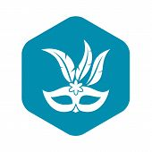 Carnival Mask Icon. Simple Illustration Of Carnival Mask Vector Icon For Web poster