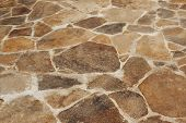 stock photo of mortar-joint  - The surface of the stone floor on the terrace - JPG