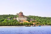 Imperial Summer Palace in Beijing, China. Longevity Hill on the Kunming Lake, Summer Palace complex, poster