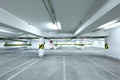 picture of parking lot  - parking garage - JPG
