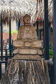 Buda, Estuatua, Tailandia, Madera, Templo, Sol, Día, poster