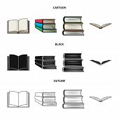 Isolated Object Of Library And Textbook Logo. Set Of Library And School Stock Symbol For Web. poster