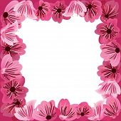 Постер, плакат: Рама цветы цветочные векторных фон