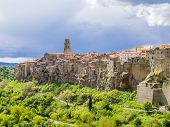 Stunning  View Of Pitigliano, Picturesque Mediaeval Town In Tuscany, Italy poster