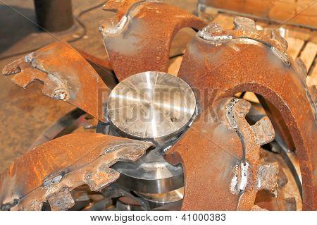 Billet New Rotor Dredge In The Workshop Shipyard