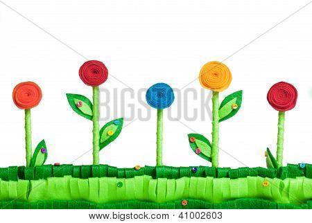 Flower Field  Felt