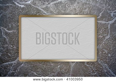 Golden frame over textured cover