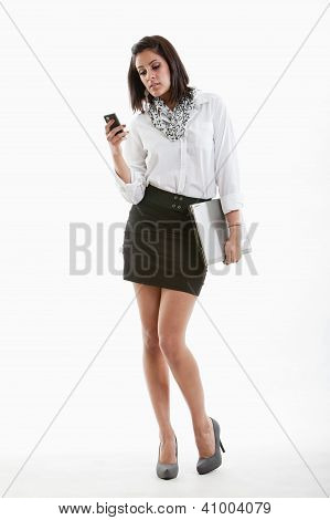 Attractive Hispanic Twenties Businesswoman