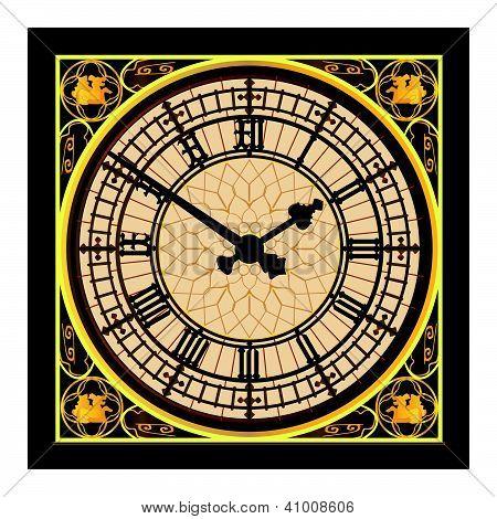 Big Ben en la esfera del reloj