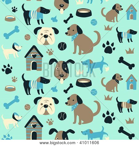 Doggy Collection Seamless Pattern