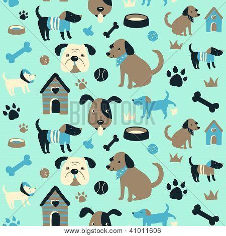 Hondje collectie naadloze patroon