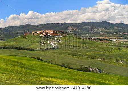 Village in Crete Senesi, Tuscany, Italy