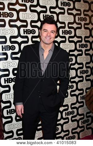 LOS ANGELES - JAN 13:  Seth MacFarlane arrives at the 2013 HBO Post Golden Globe Party at Beverly Hilton Hotel on January 13, 2013 in Beverly Hills, CA..