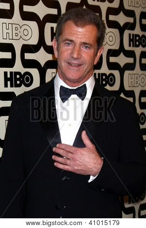 LOS ANGELES - JAN 13:  Mel Gibson arrives at the 2013 HBO Post Golden Globe Party at Beverly Hilton Hotel on January 13, 2013 in Beverly Hills, CA..