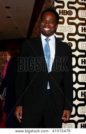 LOS ANGELES - JAN 13:  Harold Perrineau arrives at the 2013 HBO Post Golden Globe Party at Beverly Hilton Hotel on January 13, 2013 in Beverly Hills, CA..