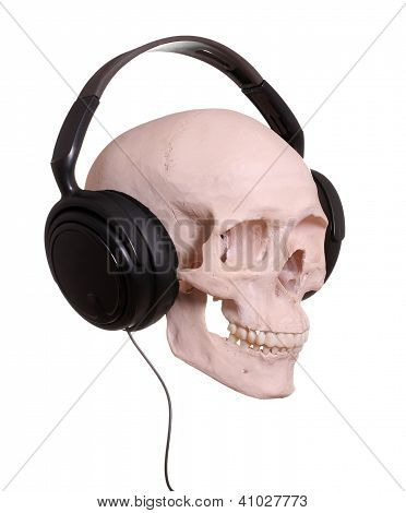 Cranium With Headphones