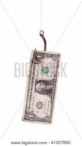 Fishhook With Dollar Note
