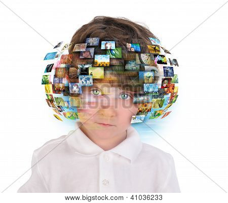 Young Boy With Media Images