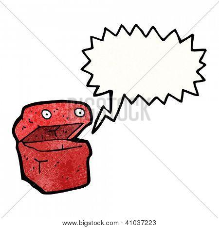 cartoon talking lunchbox