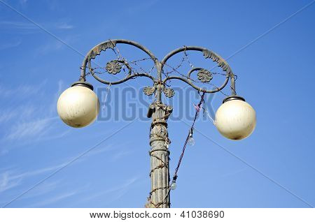 Old Street Lamp In Jaipur, India