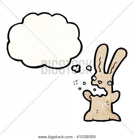 cartoon burping rabbit