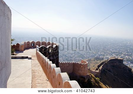 Nahargarh Fort And Wiew To Jaipur City, India