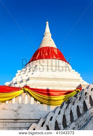 A Mon Style Marble Carved Pagoda