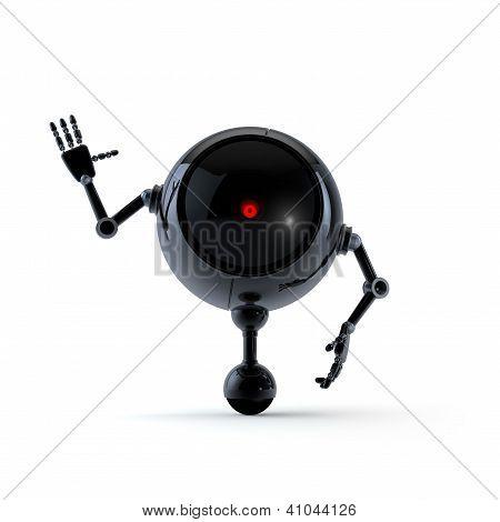 Robot Show Hello Sign