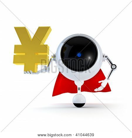 Robot Keep  Japan Yen Sign