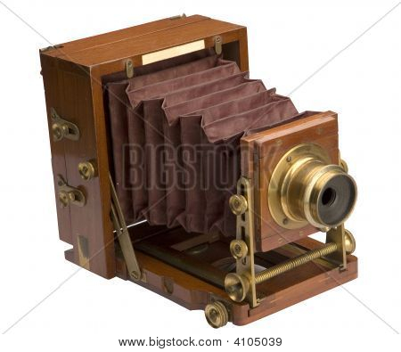 Old Wooden Field Camera