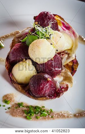 Warm Salad Of Celery And Beetroot
