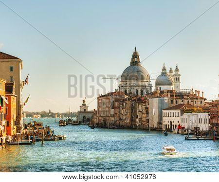 View To Basilica Di Santa Maria Della Salute In Venice