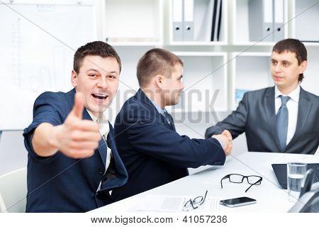 Business Agreement Among Businesspeople