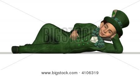 Leprechaun Laying On An Edge