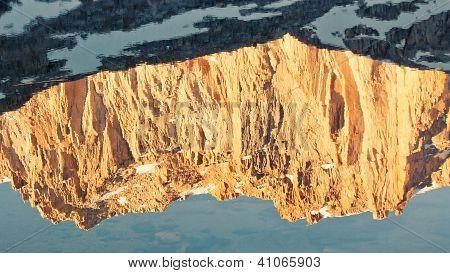 Golden Mountain Reflection