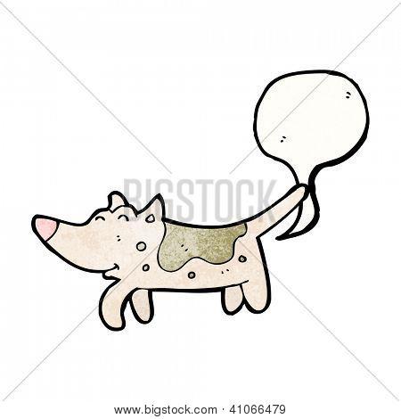 cartoon farting dog