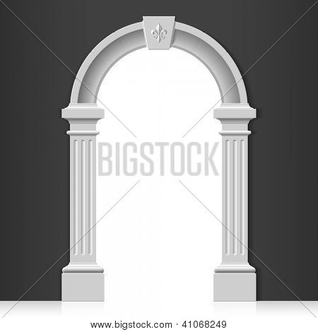 Classic arch. Vector.