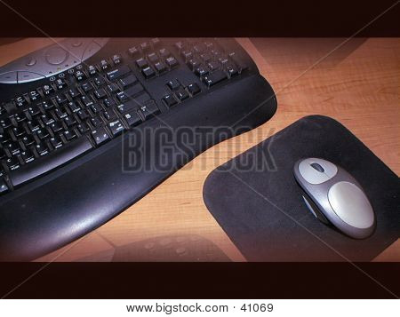 Keyboard With Mouse Template