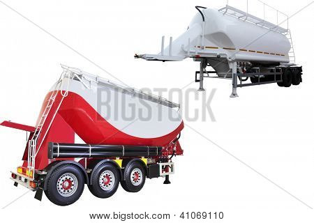 dumper semitrailer isolated under the white background